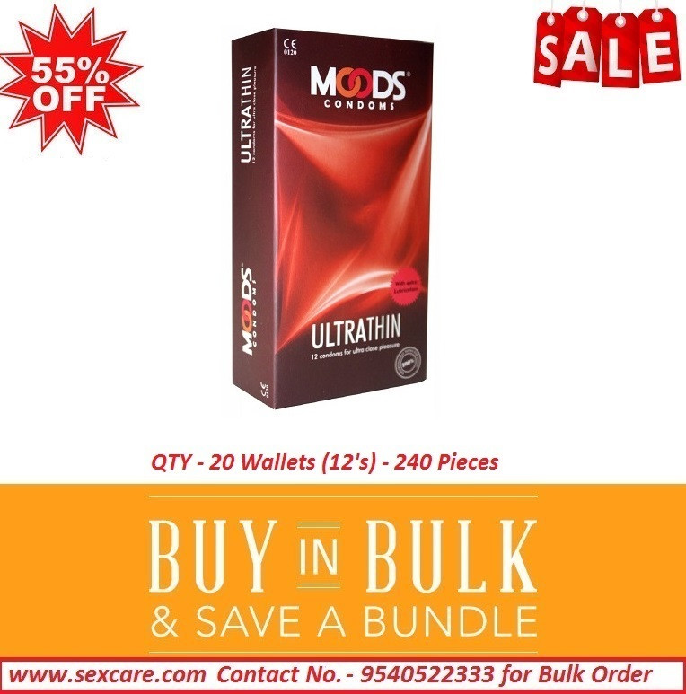 Moods Ultra Thin Condoms 12'S ( Pack of 20 Boxes )