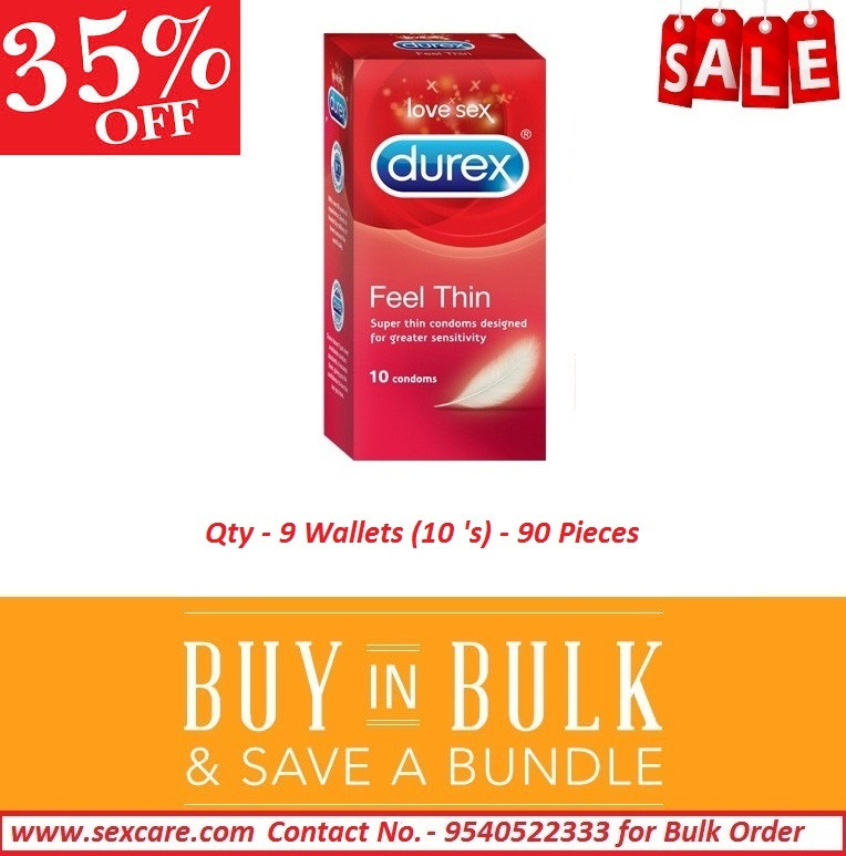 Sexcare Durex Feel Thin Condom ( Pack of 9 Boxes )