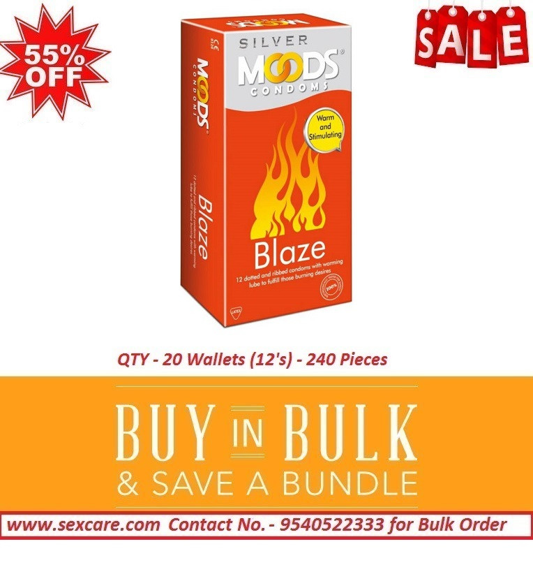 Moods Silver Blaze Condoms 12'S ( Pack of 20 Boxes )