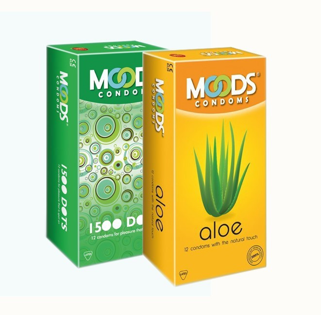 Moods 1500 dots and aloe combo condoms Pack of 12x2