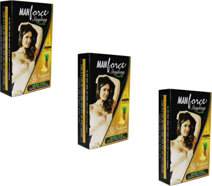 Manforce Staylong Pineapple Condom 10's (Set of 3)