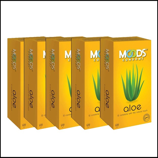 Moods Aloe Condoms 12's (Set of 5)