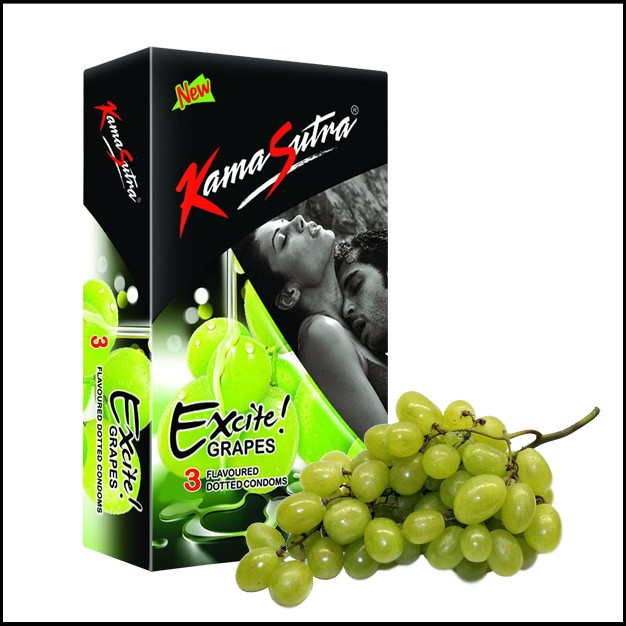 Kamasutra Excite Grape Condom 3's
