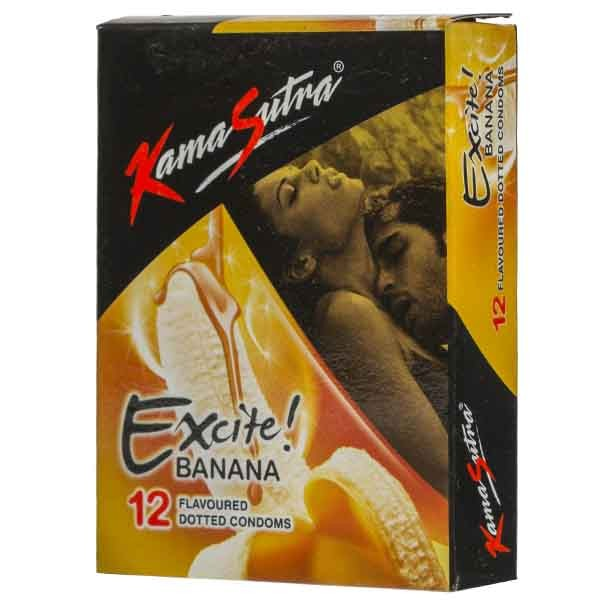 Kamasutra Excite Banana Flavored Condoms 12's