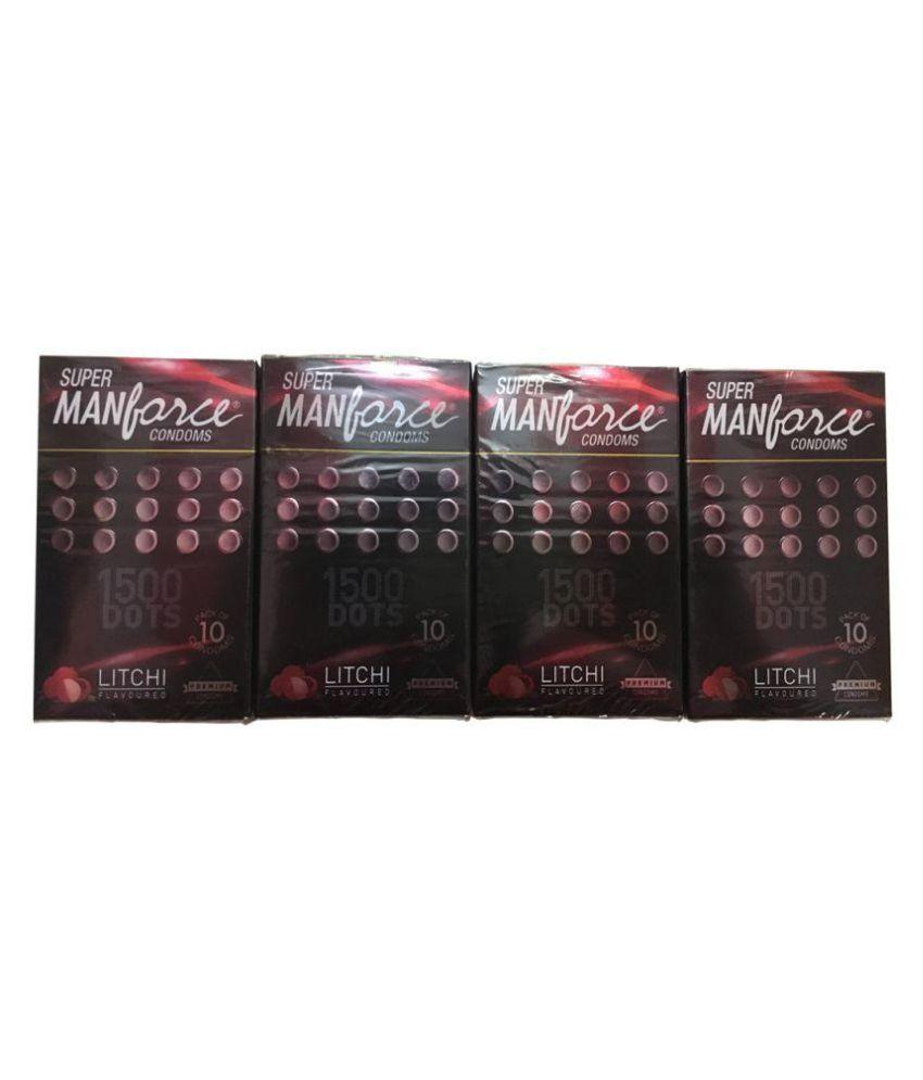 Manforce Super Litchi Condoms 10's ( Pack of 4)