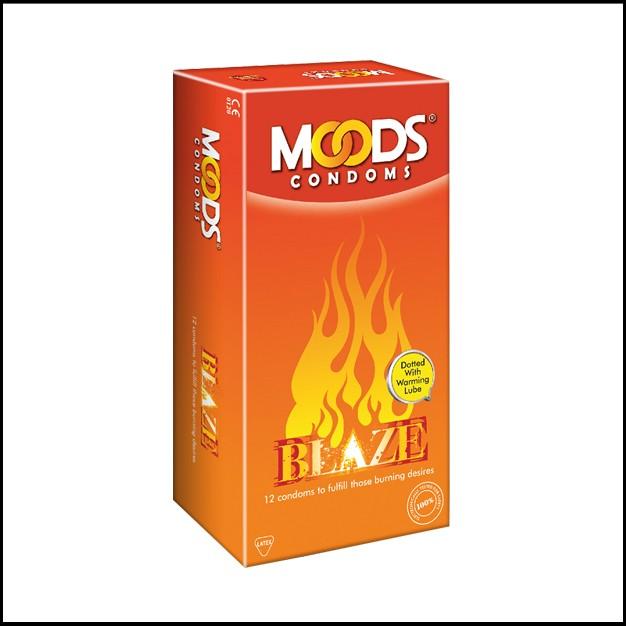 Moods Blaze Condoms 12'S