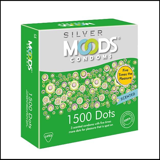 Moods Silver 1500 Dots Condoms 3's