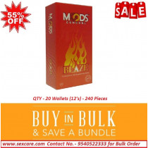 Moods Blaze Condoms 12'S ( Pack of 20 Boxes )
