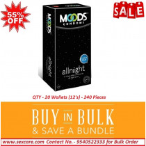 Moods All Night Climax Delay Condoms 12'S ( Pack of 20 Boxes )