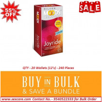 Moods Silver Joyride Dotted Condoms 12'S ( Pack Of 20 Boxes )