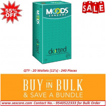 Moods Dotted Condoms 12'S ( Pack of 20 Boxes )