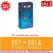 Moods Melange Condoms For Multiple Delights 12'S ( Pack of 20 Boxes )