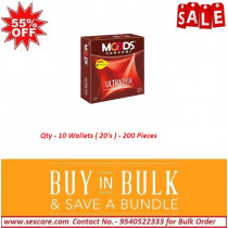 Moods Ultra Thin Condom 20'S (Pack Of 10 Boxes)