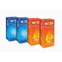 Moods Blaze and Cool Condoms 48 Pcs ( Pack of 4)