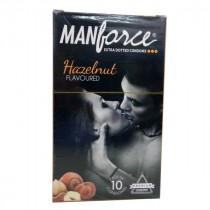 Manforce Extra Dotted Hazelnut Flavored Condoms 10'S