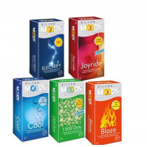 Moods Silver Condoms 60's ( Pack of 5)