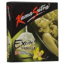 Kamasutra Excite Vanilla Condoms 3's