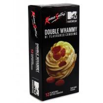 KamaSutra Double Whammy Bi Flavored Condoms: Rum and Raisin 12's