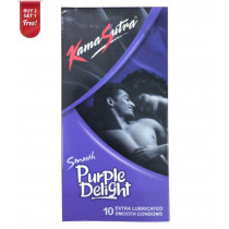 Kamasutra Desire Smooth Purple Delight Condoms 10's ( Pack Of 2 ) Get 1 free