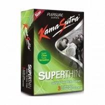 Kamasutra Pleasure Superthin Condoms 3's