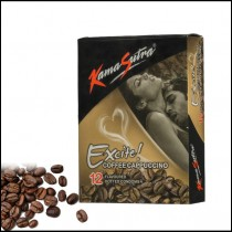 KamaSutra Excite Coffee Flavored Condoms 12'S