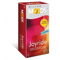 Moods Silver Joyride Dotted, Scented, Ribbed, Flared Condoms 12's