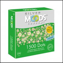 Moods Silver 1500 Dots Condoms 3's