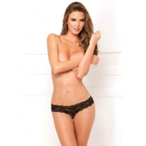 Sexcare Rene Rofe Crotchless floral Lace thong
