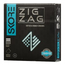 Skore Champion Zig Zag Condoms 3's