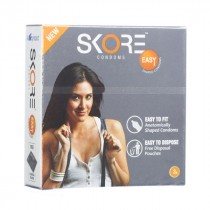 Skore Easy Condoms with Free Disposal Pouches 3's