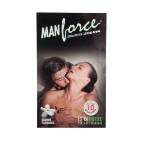Manforce Extra Dotted Jasmine Flavored Condoms 10's