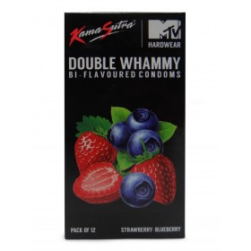 Kamasutra Strawberry-Blueberry Flavoured 12's Condoms